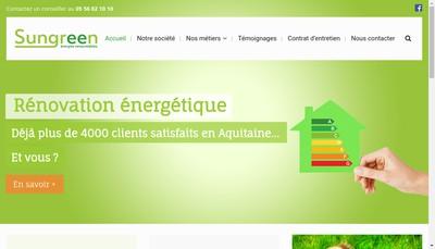 Site internet de Sun Green Energies