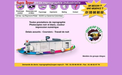 Site internet de Super Repro