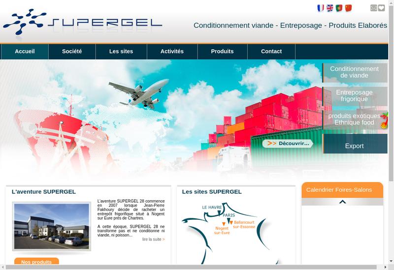 Capture d'écran du site de Supergel 91