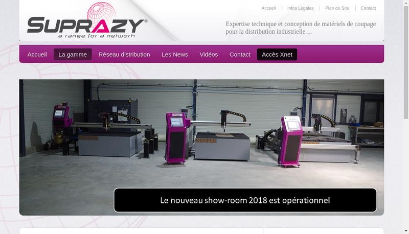 Capture d'écran du site de Suprazy