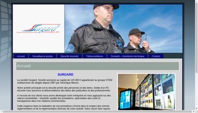 Capture d'écran du site de Surgard