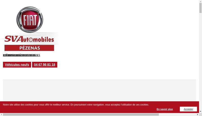 Capture d'écran du site de Sv Automobiles