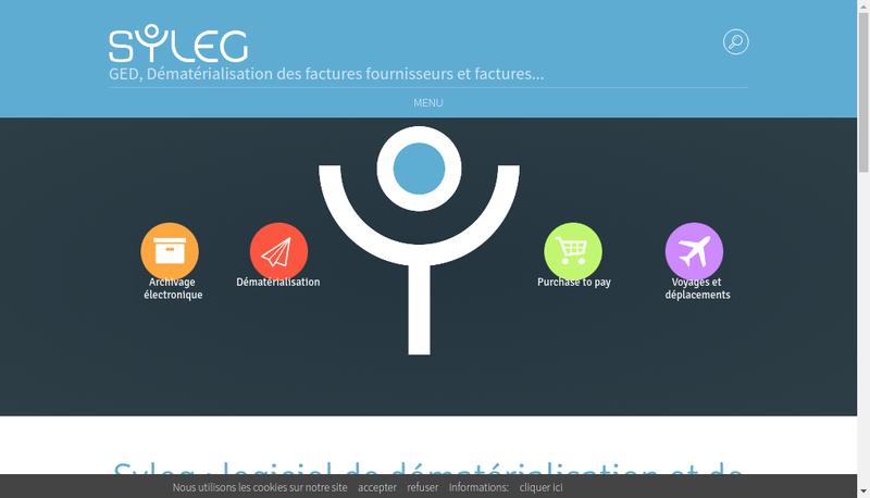 Capture d'écran du site de Syleg