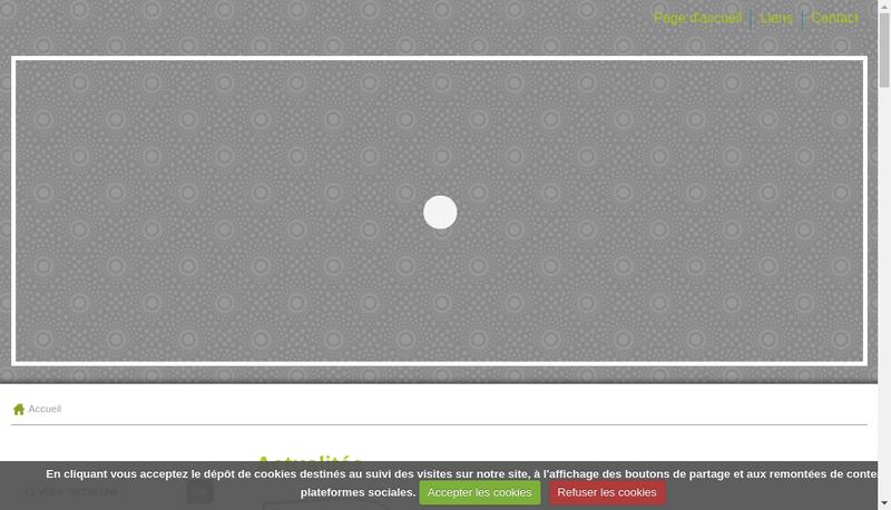 Capture d'écran du site de TOM