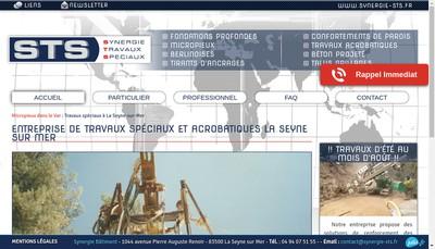 Site internet de Sts Synergie Travaux Speciaux