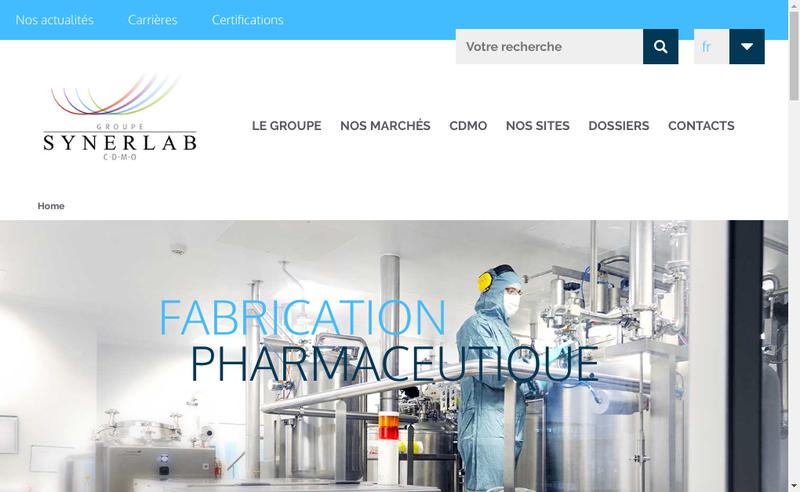 Capture d'écran du site de Lyofal