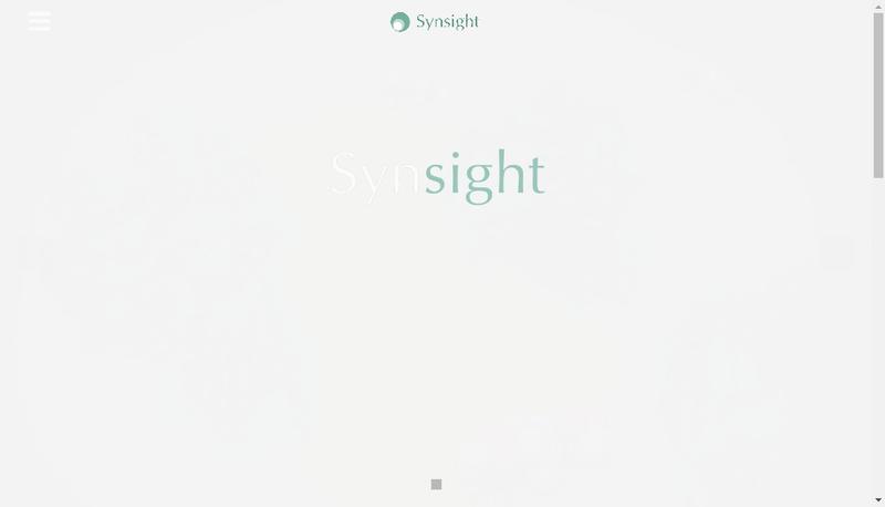 Capture d'écran du site de Synsight