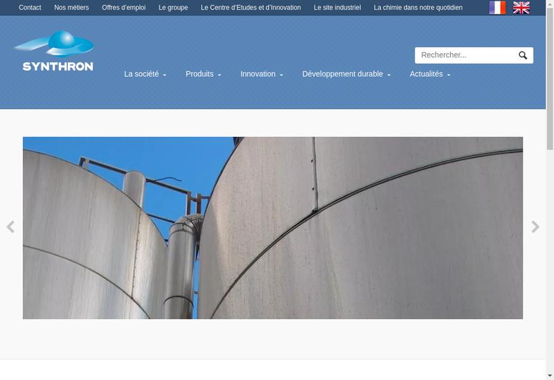 Capture d'écran du site de Synthron