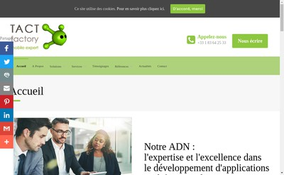 Site internet de Tact Factory