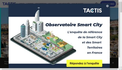 Site internet de Tactis Innovation et Services