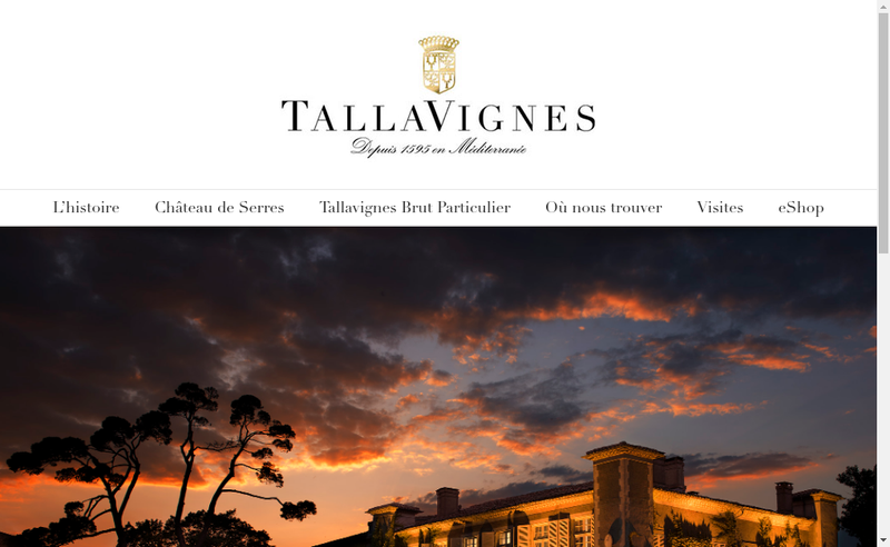 Capture d'écran du site de Tallavignes