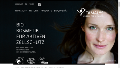 Capture d'écran du site de SARL Biozocal
