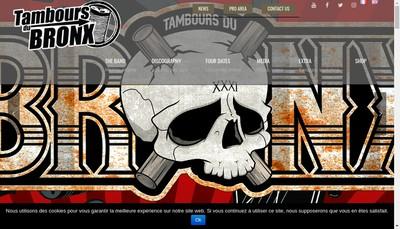 Site internet de Tambours du Bronx Production