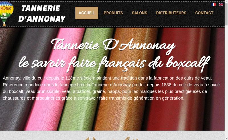 Capture d'écran du site de Tannerie d'Annonay
