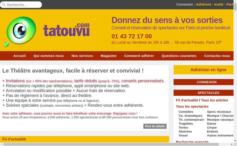 Capture d'écran du site de Tatouvu