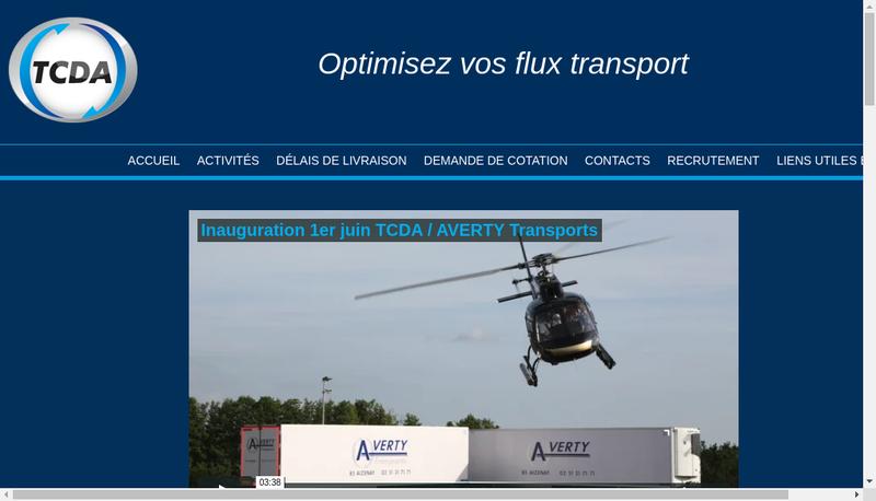 Capture d'écran du site de Transports Ch Dehergne Affretement