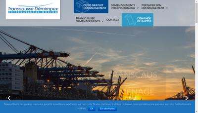 Capture d'écran du site de Transcausse Demimpex