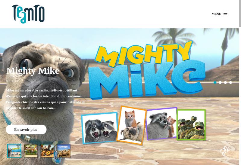 Capture d'écran du site de Teamto Digital