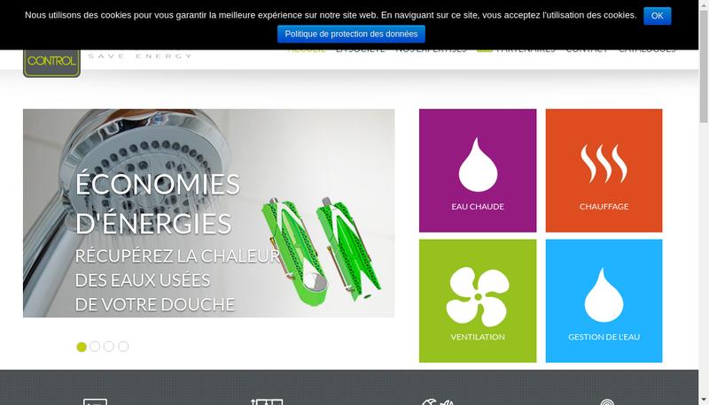 Capture d'écran du site de Tec Control