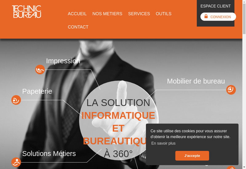 Capture d'écran du site de Technic Bureau SA