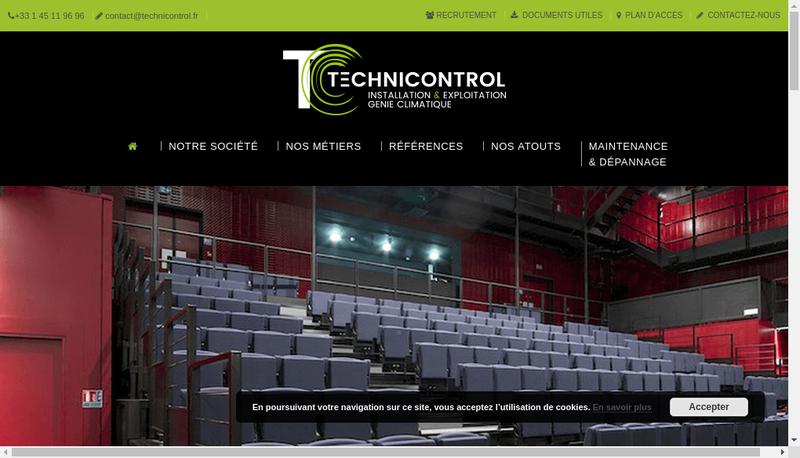 Capture d'écran du site de Technicontrol