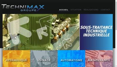 Site internet de Technimax