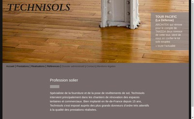 Site internet de Technisols