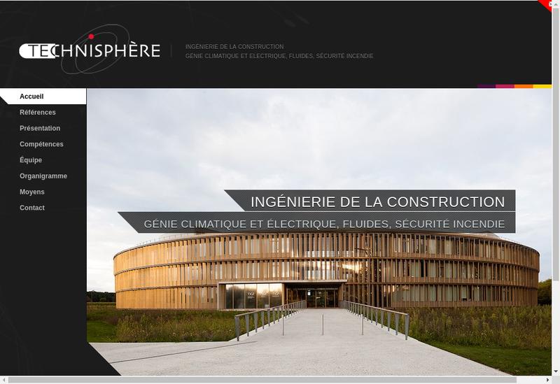 Capture d'écran du site de Technisphere