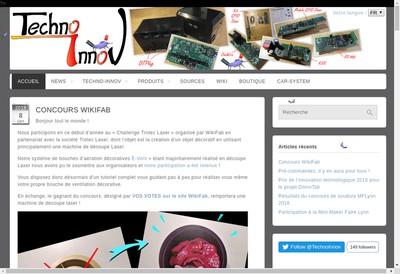 Site internet de Techno-Innov