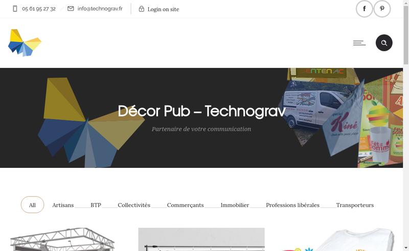 Capture d'écran du site de Decor Pub