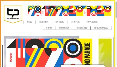 Capture d'écran du site de Technopol- Techno Parade