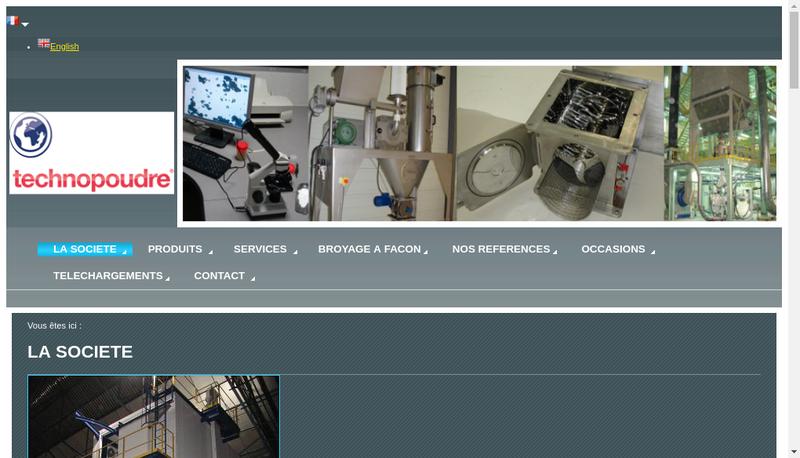 Capture d'écran du site de Technopoudre