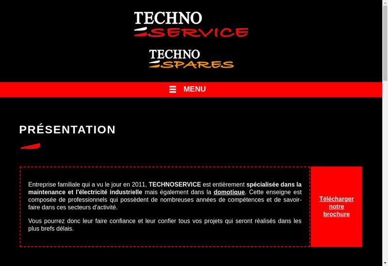 Capture d'écran du site de Technoservice Poussignac