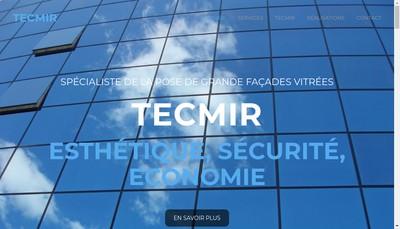 Site internet de Tecmir Menuiserie Aluminium