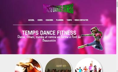 Site internet de Temps' Dance Fitness