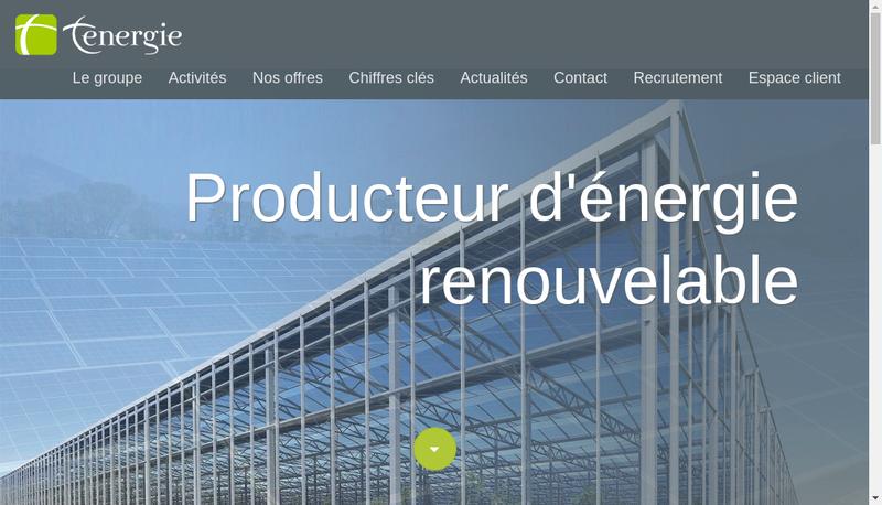 Capture d'écran du site de Tenergie Developpement