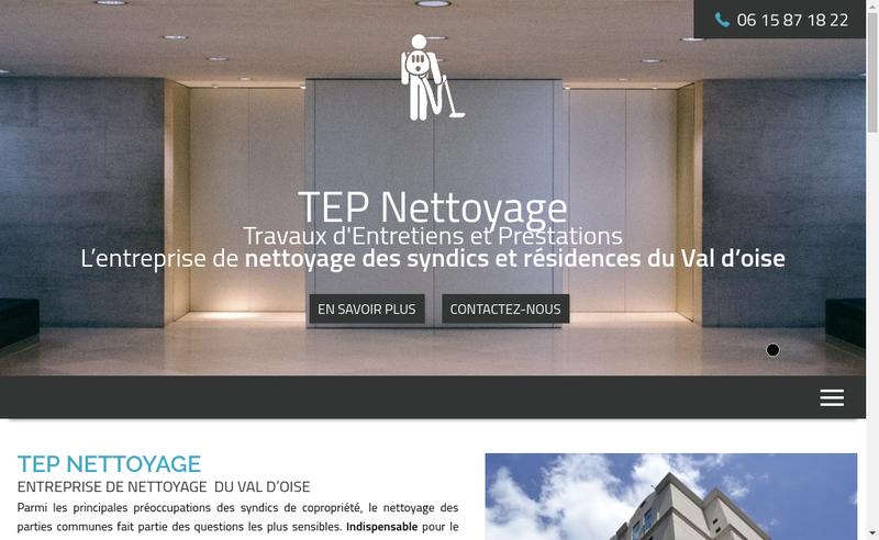 Capture d'écran du site de TEP