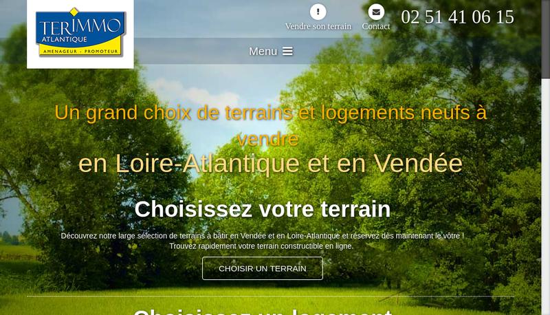 Capture d'écran du site de Terimmo Atlantique