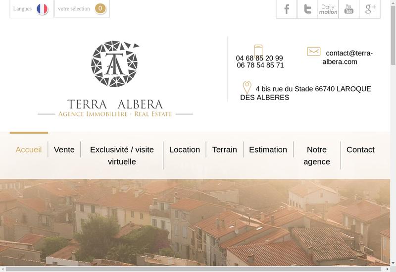 Capture d'écran du site de Terra Albera