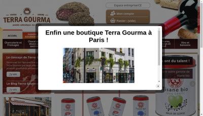 Capture d'écran du site de Terra Gourma