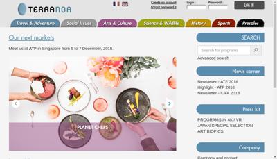Capture d'écran du site de Terranoa