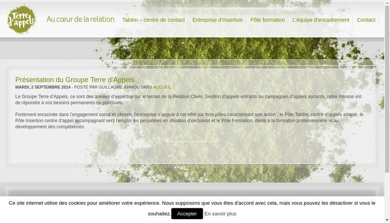 Capture d'écran du site de Taktim