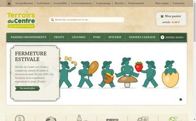 Site internet de Terroirs du Centre