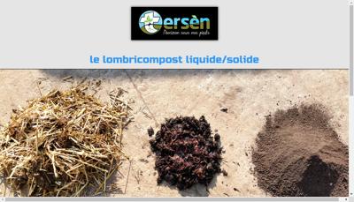 Capture d'écran du site de Tersen
