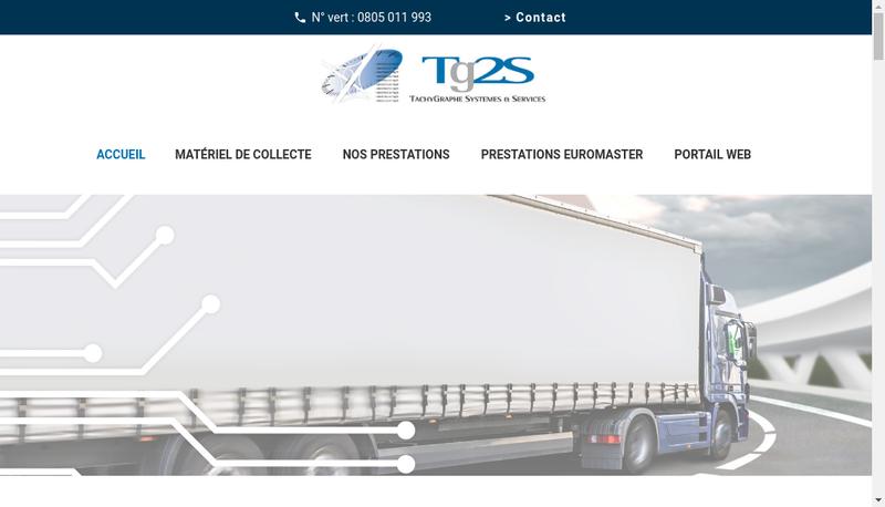 Capture d'écran du site de TG2S