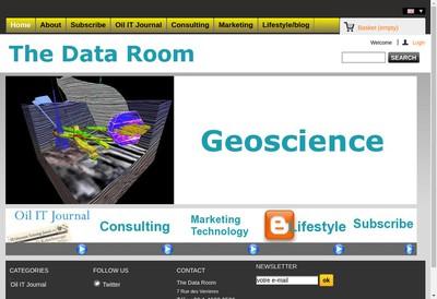 Site internet de The Data Room