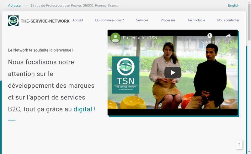Capture d'écran du site de The-Service-Network