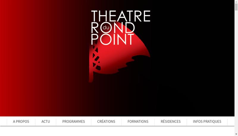 Capture d'écran du site de Theatre du Rond Point