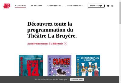 Site internet de Theatre la Bruyere