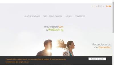 Site internet de The Corporate Gym